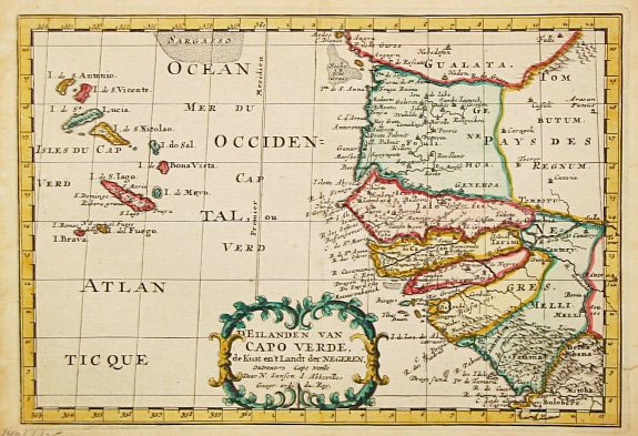 Old Cape Verde Map